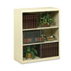 Executive Steel Bookcase W/ Glass Doors, 3 Shelves, 36w x 15d x 42h, Putty