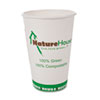 Compostable Paper/PLA Cup, 8 oz, White, 50/pack