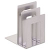SteelMaster Soho Bookend with Squared Corners, 8 1/10 x 7 x 5, Silver