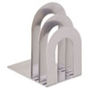 SteelMaster Soho Bookend with Curved Corners, 8 1/10 x 7 x 5, Silver