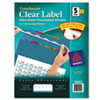 Avery Index Maker Clear Label Punched Dividers, Multicolor 5-Tab, Letter, 5 Sets/Pack