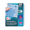 Index Maker Clear Label Punched Dividers, Blue 8-Tab, Letter, 5 Sets/Pack