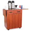 Hospitality Service Cart, 1-Shelf, 32-1/2w x 20-1/2d x 38-3/4h, Cherry