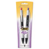 For Her Pen, 1.0 mm, Medium, Black Ink, 2/Pk