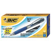 BU3 Retractable Gel Roller Ball Pen, 0.7 mm, Blue