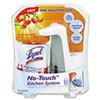 LYSOL Brand No-Touch Kitchen System, 8.5 oz, Plastic, Tangerine