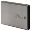 Secure Hard Drive, USB 3.0, 500GB, Silver