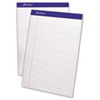 Evidence Perf Top, Wide Rule, Letter, White, 50-Sheet Pads/Pack, Dz.