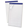 Evidence Perf Top, Legal Rule, Lgl, White, 50-Sheet Pads/Pack, Dozen