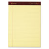 Ampad Gold Fibre Writing Pads, Legal/Wide Rule, Ltr, Canary, 4 50-Sheet Pads/Pack