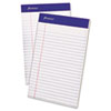Ampad Writing Pad, Narrow Rule, 5 x 8, White, Micro Perfed, 50-Sheets, Dozen