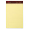Ampad Gold Fibre Writing Pads, Jr. Legal Rule, 5 x 8, Canary, 4 50-Sheet Pads/Pack