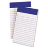 Ampad Perforated Writing Pad, Narrow, 3 x 5, White, 50 Sheets, Dozen