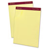 Ampad Gold Fibre Pads, Narrow/Margin Rule, Ltr, Canary, 50-Sheet Pads/Pack, Dozen