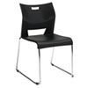 Duet Series Stacking Chair, Polypropylend, Black, 4 Chairs/Carton