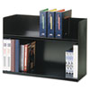 SteelMaster Two-Tier Book Rack, Steel, 29 1/8 x 10 3/8 x 20, Black