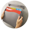 Cubicle Wall File Pocket, 12 1/2 x 1 3/8 x 9 1/2, Gray