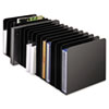 Message Rack, 15-Compartment, Steel, 6 1/4 x 16 1/10 x 6 1/2, Black