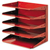 Soho Horizontal Organizer, Letter, Five Tier, Steel, Red