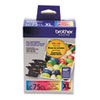 Brother LC753PKS (LC-75CMY) Innobella High-Yield Ink, CMY, Yellow, 600 Page-Yield, 3/Pk