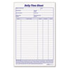 Daily Time and Job Sheets, 6 x 9-1/2, 100/Pad, 2/Pack