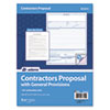 Contractor Proposal Form, 3-Part Carbonless, 8 1/2 x 11, 50 Forms