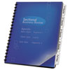 Swingline GBC ZipBind Prepunched Tabs, 5-Tab, 8-1/2 x 11, White, 1 Set/Pack