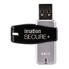 imation Secure+ Hardware-Encrypted USB 2.0 Flash Drive, 64 GB