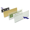 Name Badge Refill Kit, Laser Inserts, 1 x 3, Gold, 10 per Kit