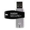 Secure+ Hardware-Encrypted Flash Drive, 4 GB