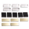 Name Badge Bulk Kit, Gold Badges, 50 Units