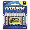 Alkaline Batteries, AA, 12/Pack
