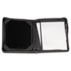 iPad Zipper Composition Pad Holder, Leather, Black