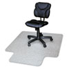 RecyClear Chairmats for Carpets, 45 x 53, 25 x 12 Lip, Clear