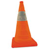 Pack & Pop Collapsible Safety Cones, 28in, w/Light, 1/PK