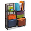 Onyx Mesh Fold-Up Shelving, 27-1/2w x 11d x 34-1/4h, Black