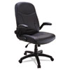 Big &amp; Tall Executive Pivot-Arm Chair, Black Leather