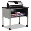 Mobile Machine Stand, One-Shelf, 30w x 21d x 26-1/2h, Anthracite/Gray