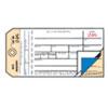 Duplicate Inventory Tags, Bond Top Copy, 6 1/4 x 3 1/8, Manila/White, 500/Box