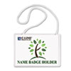 Biodegradable Name Badge Holder Kit, 4 x 3, Clear, 50/Box