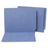 Water/Paper Cut-Resistant Folders, Straight Tab, Letter, Blue, 100/Box