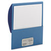 Textured Stackit Folders, Letter Size, Blue, 10/Pack
