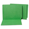 Water/Paper Cut-Resistant Folders, Straight Cut End Tab, Letter, Green, 100/Box