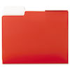 SuperTab Two-Pocket Folders, Letter Size, Red, 5/Pack
