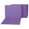 Water/Paper Cut-Resistant Folders, Straight Tab, Letter, Purple, 100/Box