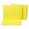 Water/Paper Cut-Resistant Folders, Straight Tab, Letter, Yellow, 100/Box