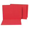 Water/Paper Cut-Resistant Folders, Straight Tab, Letter, Red, 100/Box