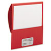 Textured Stackit Folders, Letter Size, Red, 10/Pack