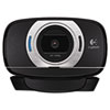Logitech C615 HD Webcam, 1080p, Black/Silver