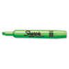 Sharpie Accent Tank Style Highlighter, Chisel Tip, Fluorescent Green, Dozen